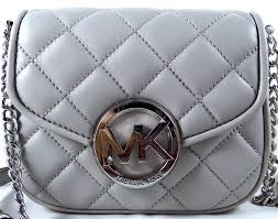 Michael Kors Fulton Quilt MK Silver Pearl Grey Leather Small ... & ${res.content.global.inflow.inflowcomponent.technicalissues} Adamdwight.com