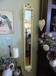 shabby chic slim wall mirror tall
