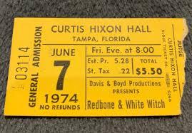 Redbone White Witch Ticket Stub Album On Imgur