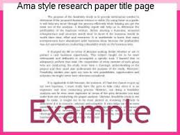 Research Paper Title Ama Style Research Paper Title Page Homework Academic Writing Service