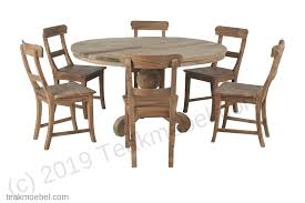 Teak Tisch Rund Dingklik 140 6 Stühle