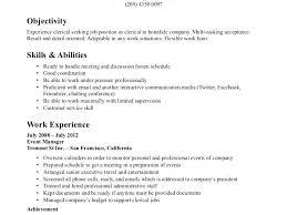 Sample Of Clerical Resume Download Clerical Work Resume Sample