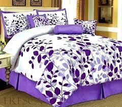 purple bed set twin