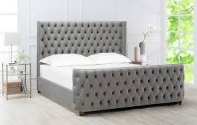 Brooklyn Tufted Bed, King, Opal Grey