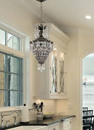 Image Of Beautiful Light For Over Kitchen Sink Using Swarovski Crystal  Beads On Shabby Chic Chandelier