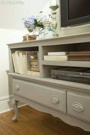 painted furniture ideas. Like The Paint Color: Credenza-turned-TV Stand Is Painted With Annie Sloan\u0027s French Linen Chalk Paint. I Sealed It Miss Mustard Seed\u0027s (clear) Furniture Ideas U