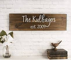 personalized family name sign personalized wedding gifts wall art rustic home decor custom wooden signs on personalized wedding gifts wall art with amazon personalized family name sign personalized wedding gifts