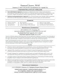 Real Estate Appraiser Resume Delectable Real Estate Resume Commercial Property Management Resume Examples