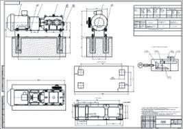 Курсовое проектирование деталей машин Чертёж общего вида привода чертежи деталей машин чертеж общего вида привода к поршневому насосу