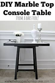 diy marble top table from a barstool