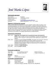Modelo De Curriculum Vitae Simple Ejemplos De Zooz1 Plantillas