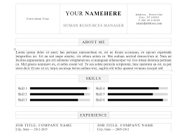 Simple Resume Template Word Saneme
