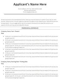 Chronological Resume Templates | Resume Templates And Resume Builder