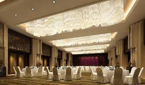 White furniture in banquet hall
