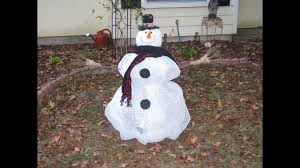 how to make carmen s deco mesh tomato cage snowman