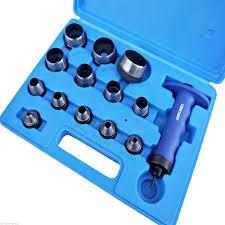 14pc hollow punch set hole tool leather plastic foam fibre 5