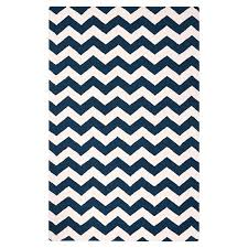 chevron rug royal navy