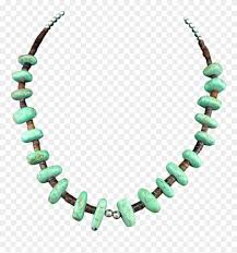 large bold native american heishi turquoise nugget necklace clipart