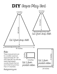 How To Make A Tent Sew A Diy Teepee Play Tent The Diy Mommy