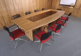 glamorous office conference table oval shaped dark walnut laminate