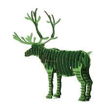 3d puzzle deer reindeer decoration toy craft kids and s diy cardboard animal paper model