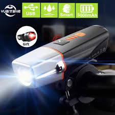 Best Cycling Front Light 2019 5000mah Induction Bicycle Front Light Set Usb Rechargeable Smart Headlight 15000 Lumens T6 Led Bike Lamp Cycle Bike Light From Diedou 18 17
