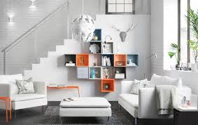 white ikea furniture. White Living Room With A Mix Of Colourful Cubes Used For Storage On The Wall Furniture Ikea O