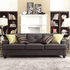 INSPIRE Q Elston Dark Grey Linen Tufted Sloped Track Sofa by iNSPIRE Q