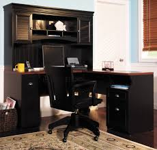 corner computer desk furniture for many modern homes with hutch in black color peacock home astounding small black computer