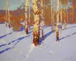 saatchi art artist vahe yeremyan painting winter landscape oil painting by palette