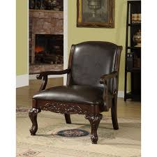 Furniture of America Antique Dark Cherry Accent Chair - Free Shipping Today  - Overstock.com - 12642929