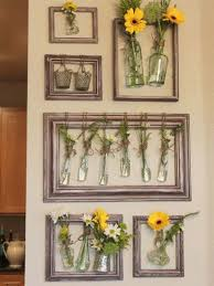 diy wall decor with old picture frames