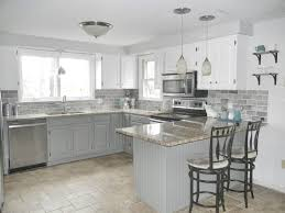 Topic For White Kitchen Cabinets With Gray Tile Floor Gray And