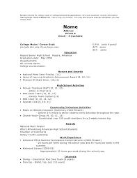 Customer Correspondence Resume Resume Templates For Scholarships