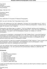 Ideas Of Cover Letter Sample Freelance For Hotographer Cover Letter