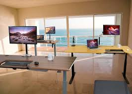 Home office standing desk Design Benefits Of Standing Vs Sitting Desk Advisor 40 Health Benefits Of Using Stand Up Desk Versus Sitting Down All Day