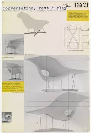 eames furniture design. Charles Eames, Ray Eames. Entry Panel For MoMA International Competition Low-Cost Furniture Design (La Chaise). C. 1950 @museummodernart Eames O