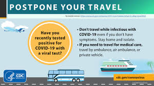 when not to travel avoid spreading
