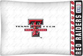 texas tech red raiders micro fiber standard pillow case from kentex