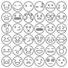 絵文字感情コレクション絵文字顔文字セット ベクター画像 無料ダウンロード