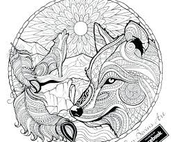 Wolf Coloring Page Wolves Coloring Pages Wolf Coloring Page Adult