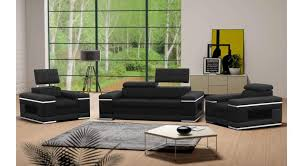 justyou cosmo sofa set faux leather black