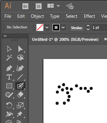 Create a rectangle and diagonal line going through the center. How Can I Draw Dots In Illustrator Graphic Design Stack Exchange