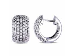 vault collection delamore jewelry 1 2 ct tw princess cut diamond stud earrings in sterling silver