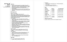 Sample Resume Lab Technician Vitadance Me
