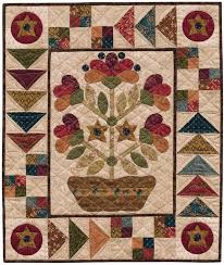 397 best Folk Art quilts images on Pinterest | Quilt patterns ... & Folk Art Dish Garden wall quilt pattern by Kim Diehl. Free with Kim's  applique freezer Adamdwight.com