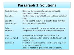 problem solution essay part ppt video online  paragraph 3 solutions topic sentence education education examples 1 2