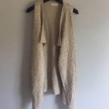 Knox Rose Beige Vest Sweater Cardigan Sleeveless