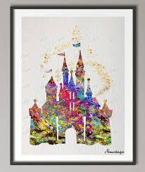 princess castle canvas wall art