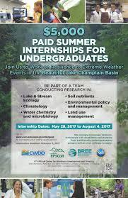 about bree undergraduate internships vermont epscor bree undergraduate summer internships